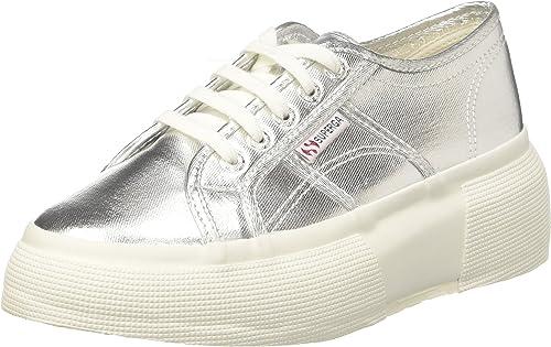 Superga 2287 COTMETW, Baskets Femme, Argenté (Grey Silver