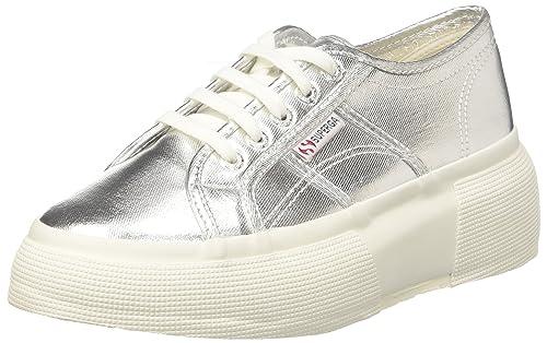 2287-Cotmetw, Zapatillas para Mujer, Plateado (Grey Silver 031), 40 EU Superga