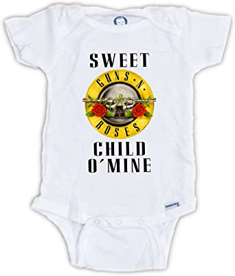 Guns And Roses Sweet Child O/'Mine Baby Vests Bodysuits Baby Grows Unisex Gift
