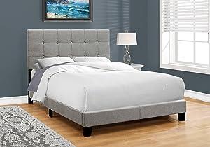 Monarch Specialties Bed Frames, Full, Beige