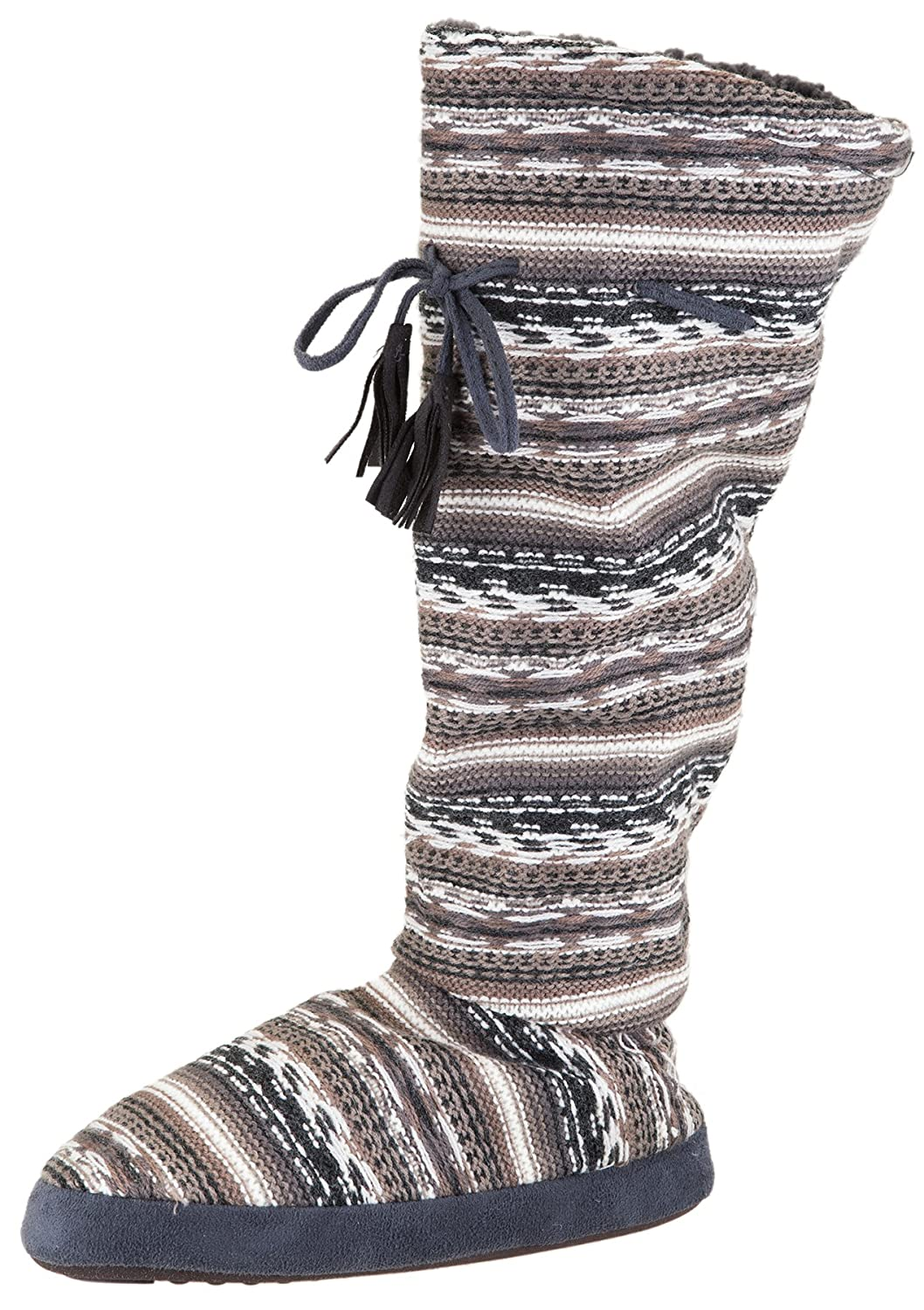 Muk Luks Women's Tall Fleece-Lined Slipper Boot