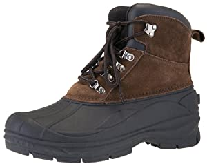 Khombu Men's Traveler Waterproof Winter Snow and Hiking Lace Up Boot (11.5 2E US, Brown)