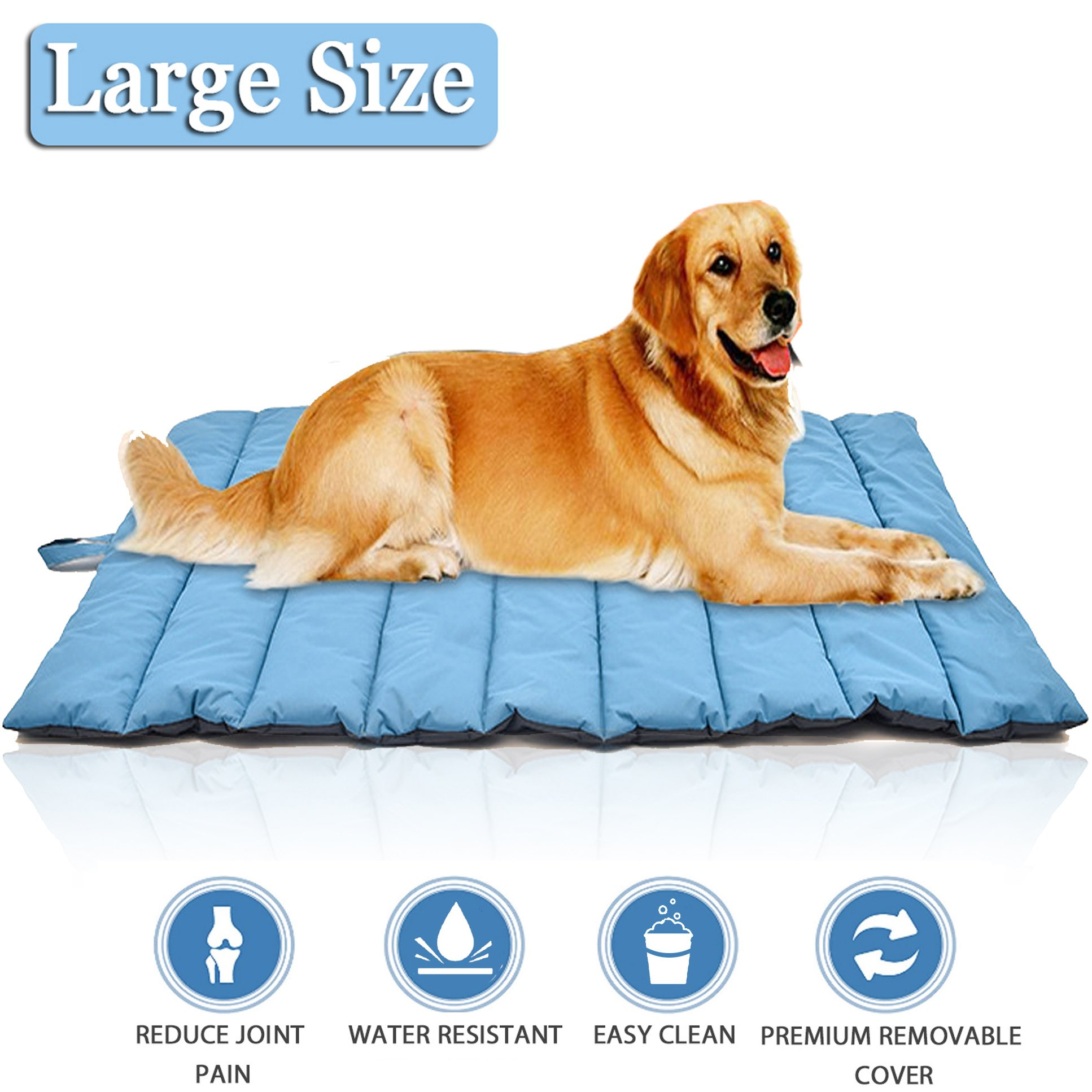 Lifepul TM Pets Bed Mat, Ultra Soft Dog & Cat Bed Cover In Large Size, Water-Resistant Puppy Cat Bed Blankets for Indoor Outdoor Use - Perfect for Funiture, Floors, Car Seats, Lawn, Couches