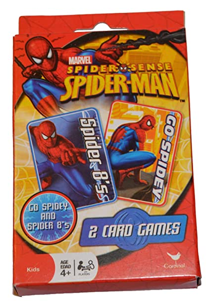 Amazon Com Marvel Spiderman Set Of 2 Card Games Crazy Eights And