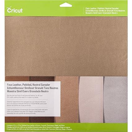 776eddc297 Amazon.com: Cricut Pebbled Faux Leather, Neutral Sampler, 12X12,: Arts,  Crafts & Sewing