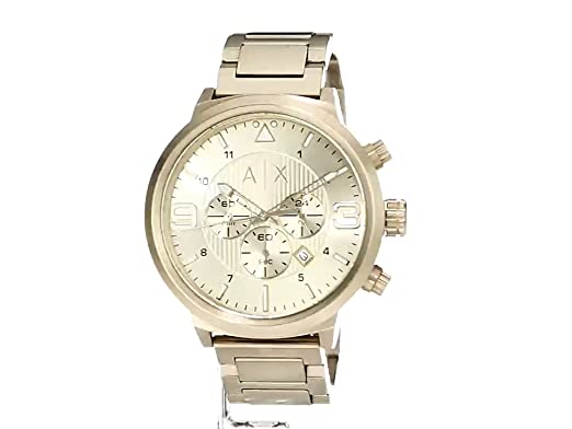 11c120813ad0 Emporio Armani AX1368 Gold Watch for Men  Armani Exchange  Amazon.com.mx   Relojes