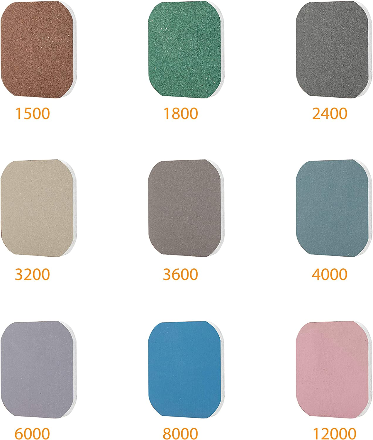 2400 8000 6000 Wet and Dry cloth sandpaper grades 1500 12000 Finest 4000