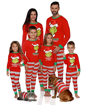 b4b7bc4fda7a Dr. Seuss Holiday Grinch Pajamas Cotton - Family Christmas Pajamas ...