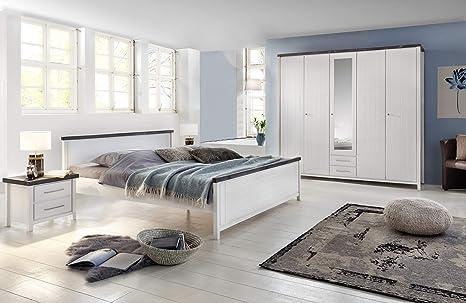 Wohnorama Schlafzimmer-Set 4-teilig Malibu VA 802040 Kiefer ...