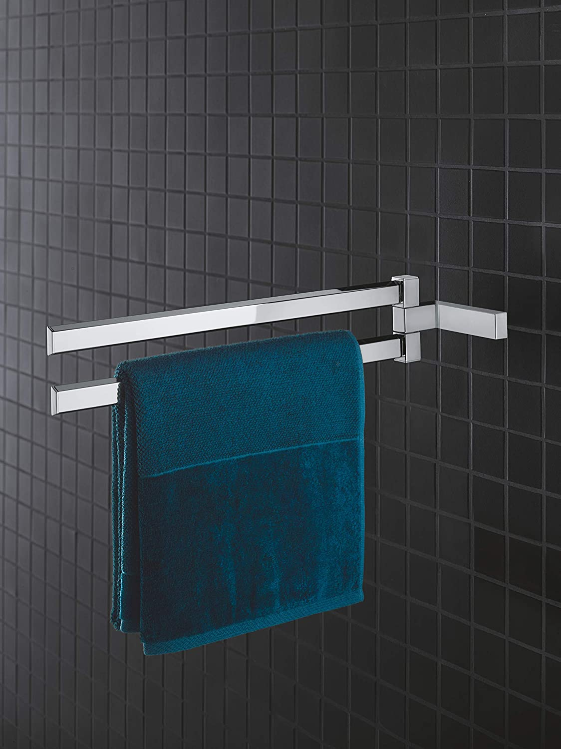 GROHE Selection Cube Bad Accessoires Doppel Handtuchhalter Material Metall chrom