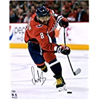 """$149 » Alex Ovechkin Washington Capitals Autographed 16"""" x 20"""" Red Jersey Shooting Photograph - Fanatics Authentic Certified"""