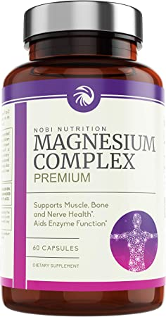 Nobi Nutrition High Absorption Magnesium Complex - Premium Magnesium Supplement for Sleep, Stress & Anxiety Relief, Leg Cramps, Headaches, Energy, Muscle Relaxation & Recovery
