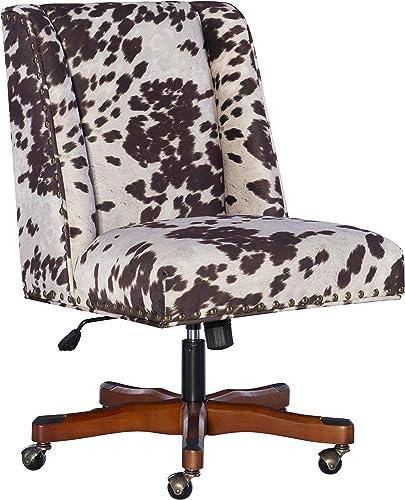 Linon Home D cor Brown Cow Print Clayton Office Chair