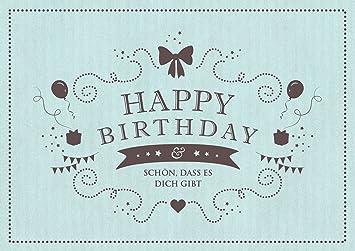 Happy Birthday Schön Dass Es Dich Gibt Glückwunschkarte Zum Geburtstag In Mint Grußkarteklappgrusskarteliebegeburtstagskarte Im