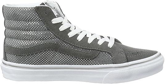 Amazon.com | Vans Sk8-Hi Slim Metallic Dots Dark Grey High-Top  Skateboarding Shoe - 10M/8.5M | Skateboarding