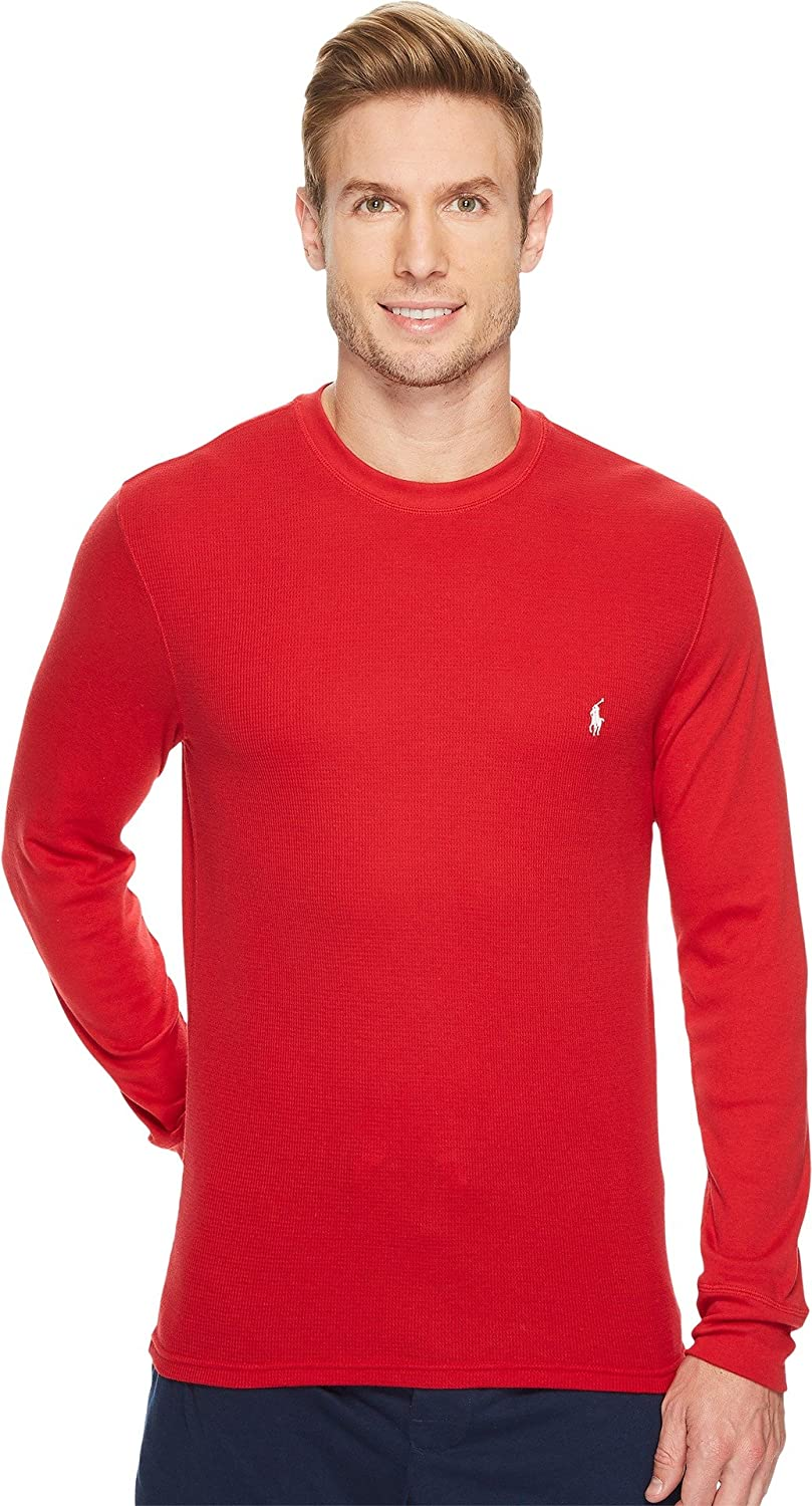 POLO RALPH LAUREN Mens Sleep Shirt Waffle Thermal Long Sleeve Crew