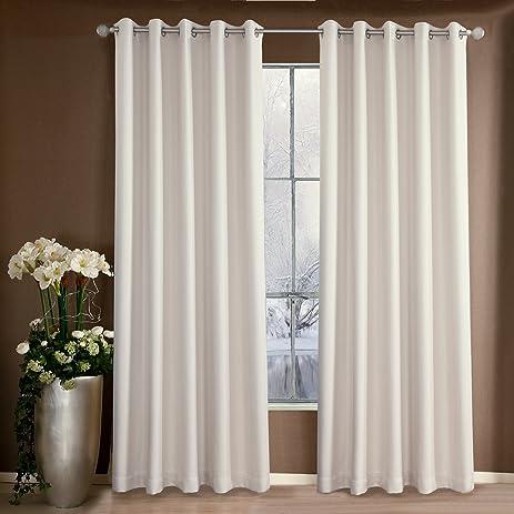 Room Darkening Cream White Curtains