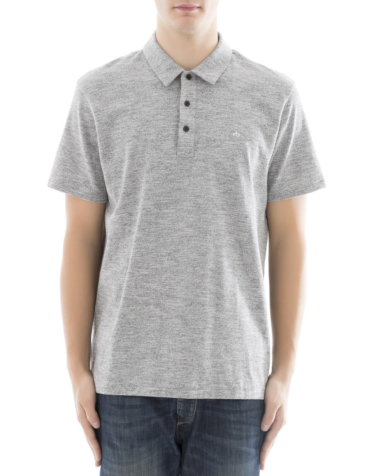 rag & bone Men's M000t076c030 Grey Cotton Polo Shirt by rag & bone (Image #1)