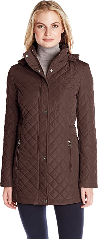 Calvin Klein Women's Quilted Lightweight Jacket: Amazon.co.uk: Clothing