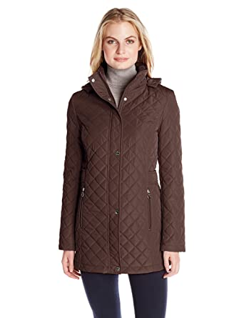 Calvin Klein Womens Classic Quilted Jacket With Side Tabs At Amazon