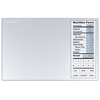 Greater Goods Nourish Digital Kitchen Scale, Food Scale with Portions Nutritional Facts Display