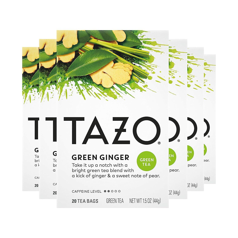Tazo Green Ginger Tea Bags Green Tea 20ct, Pack of 6