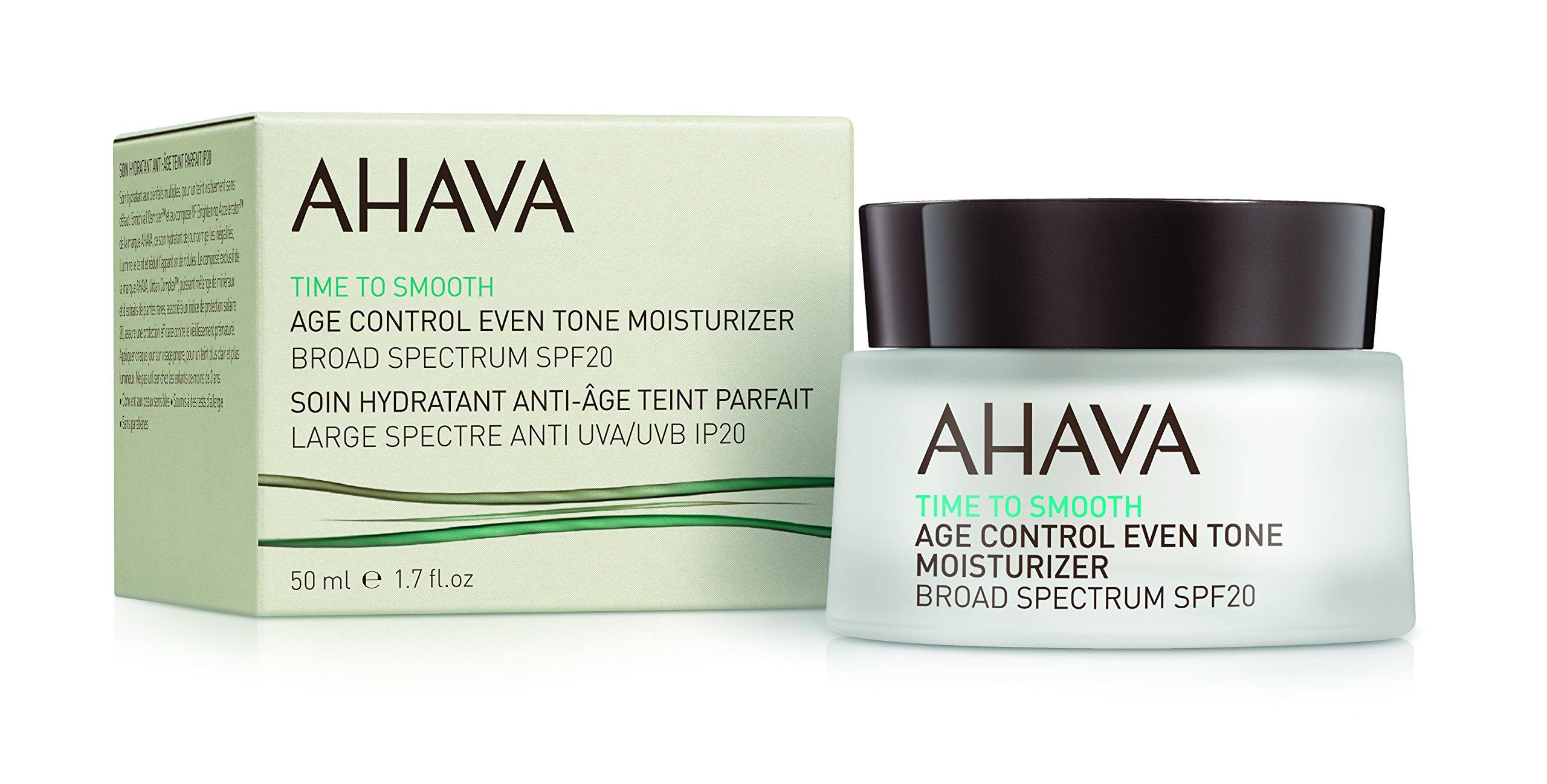 AHAVA Time to Smooth Age Control Even Tone Moisturizer Broad Spectrum SPF 20, 1.7 fl. oz.