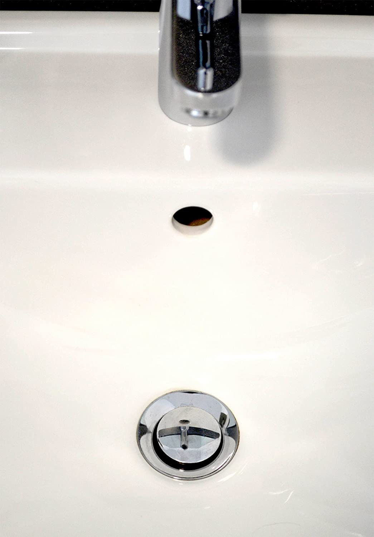 cuisine 70 mm Bouchon de bonde de lavabo universel r/églable en cuivre chrom/é de qualit/é sup/érieure pour salle de bain