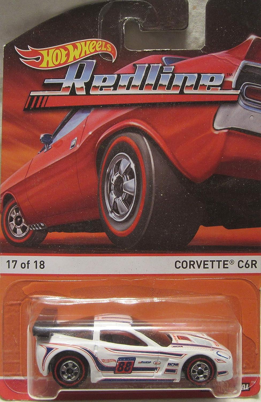 Hot Wheels Redline White Corvette C6R 17//18 Die Cast Car!
