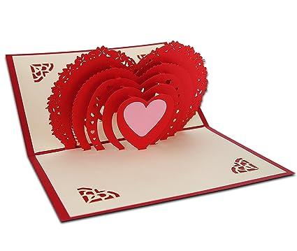 3d Pop Up Cartes Amour Pour Couple Carte De Voeux Amour Pour