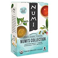 Numi Organic Tea Numi's Collection Variety Pack, 16 Count Box of Tea Bags - Black...