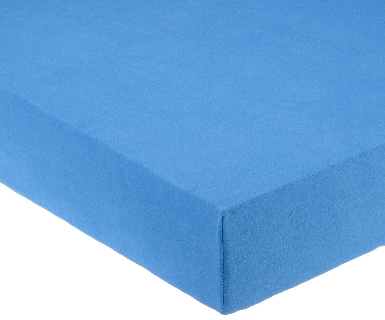 Pinolino 540002-1 - Spannbetttuch für Kinderbetten, Jersey, blau P-540002-1