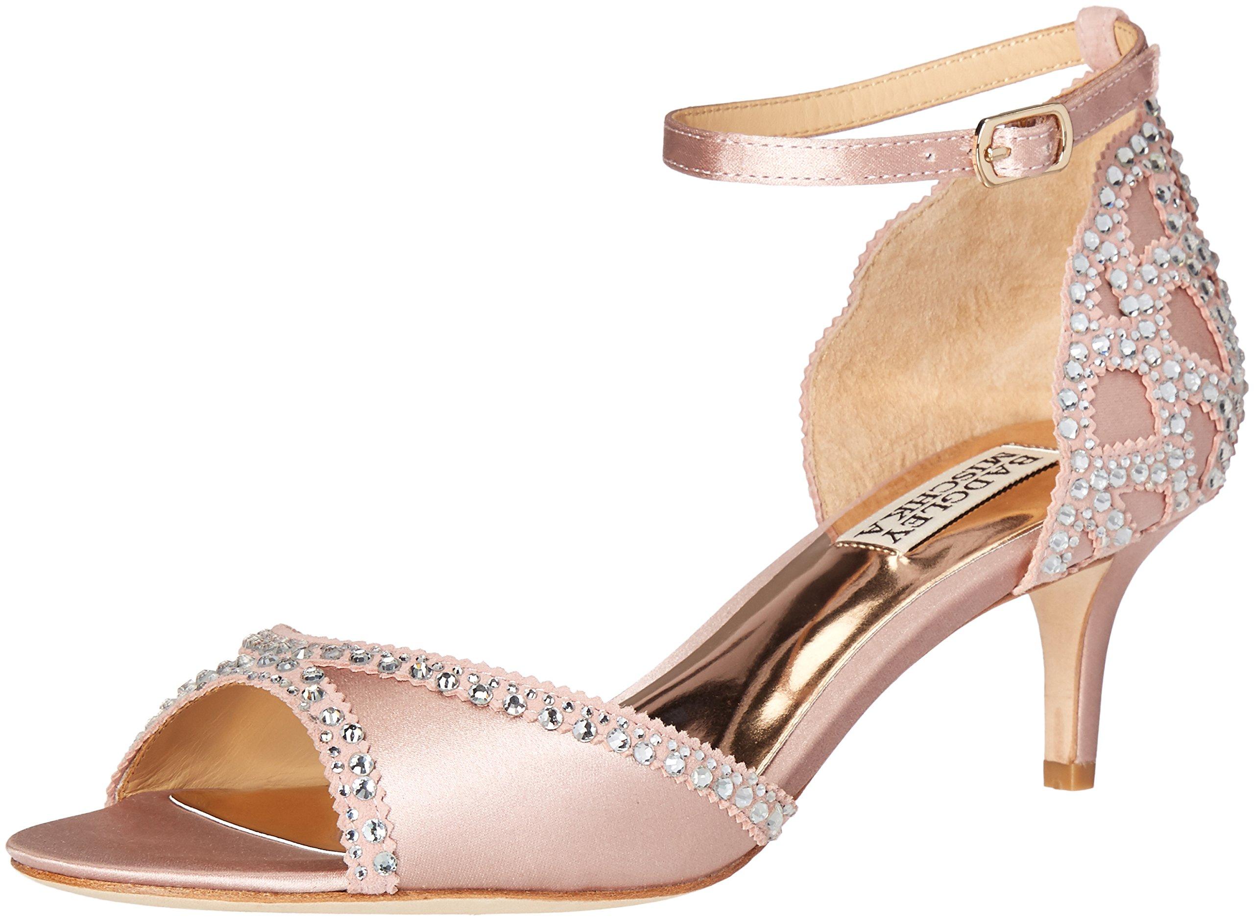 Badgley Mischka Women's Gillian Dress Sandal, Blush, 7 M US