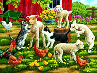 product image for SUNSOUT INC Lambs on The Loose 300 pc Jigsaw Puzzle