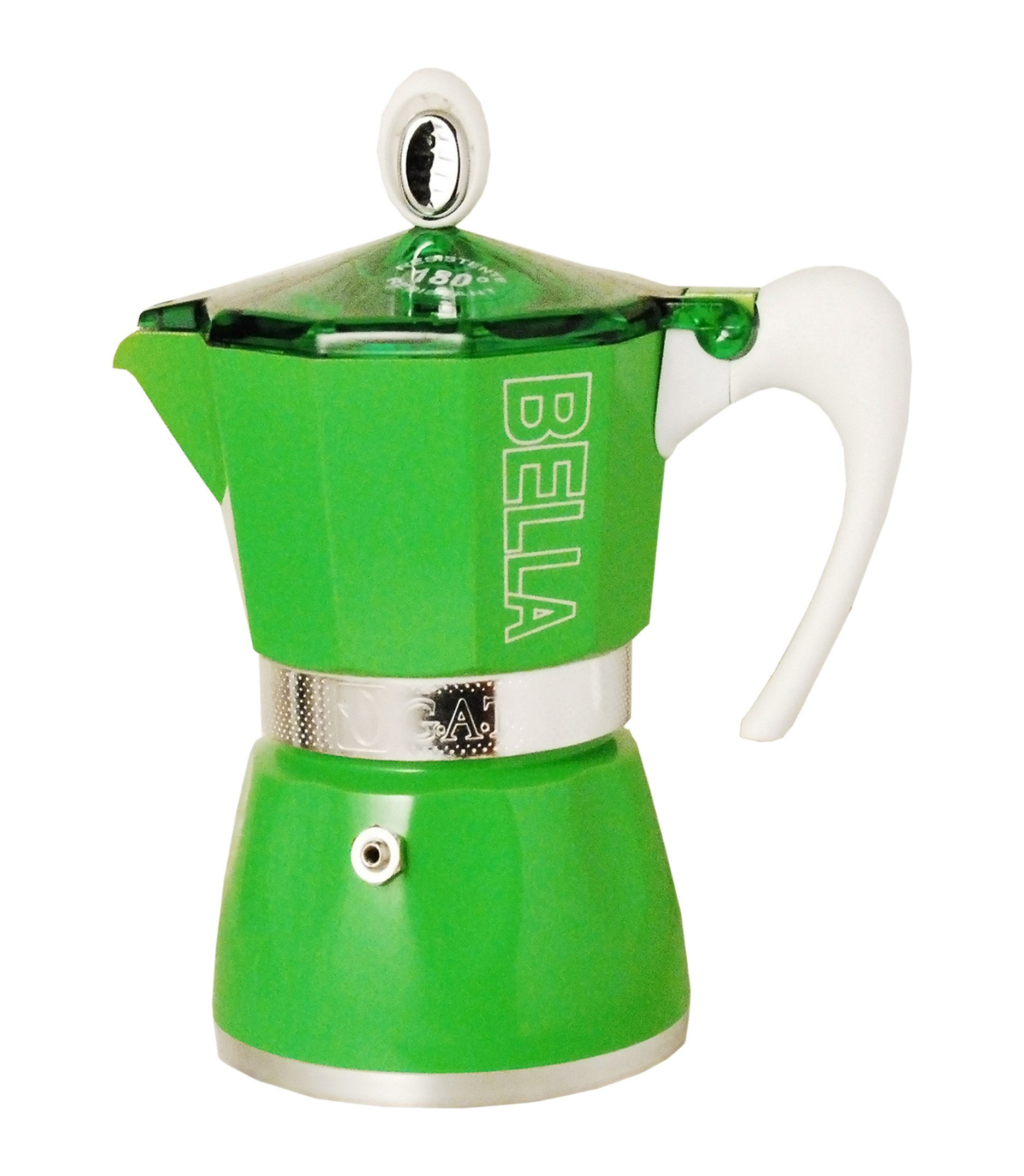 European Gift & Houseware 10-4809 9 Cup Bella Stove-Top Espresso Makers, Tropics Green