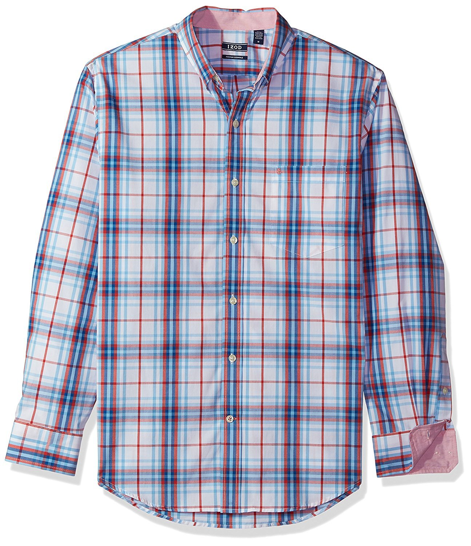 Izod Mens Long Sleeve Plaid Shirt IZOD Men' s Sportswear
