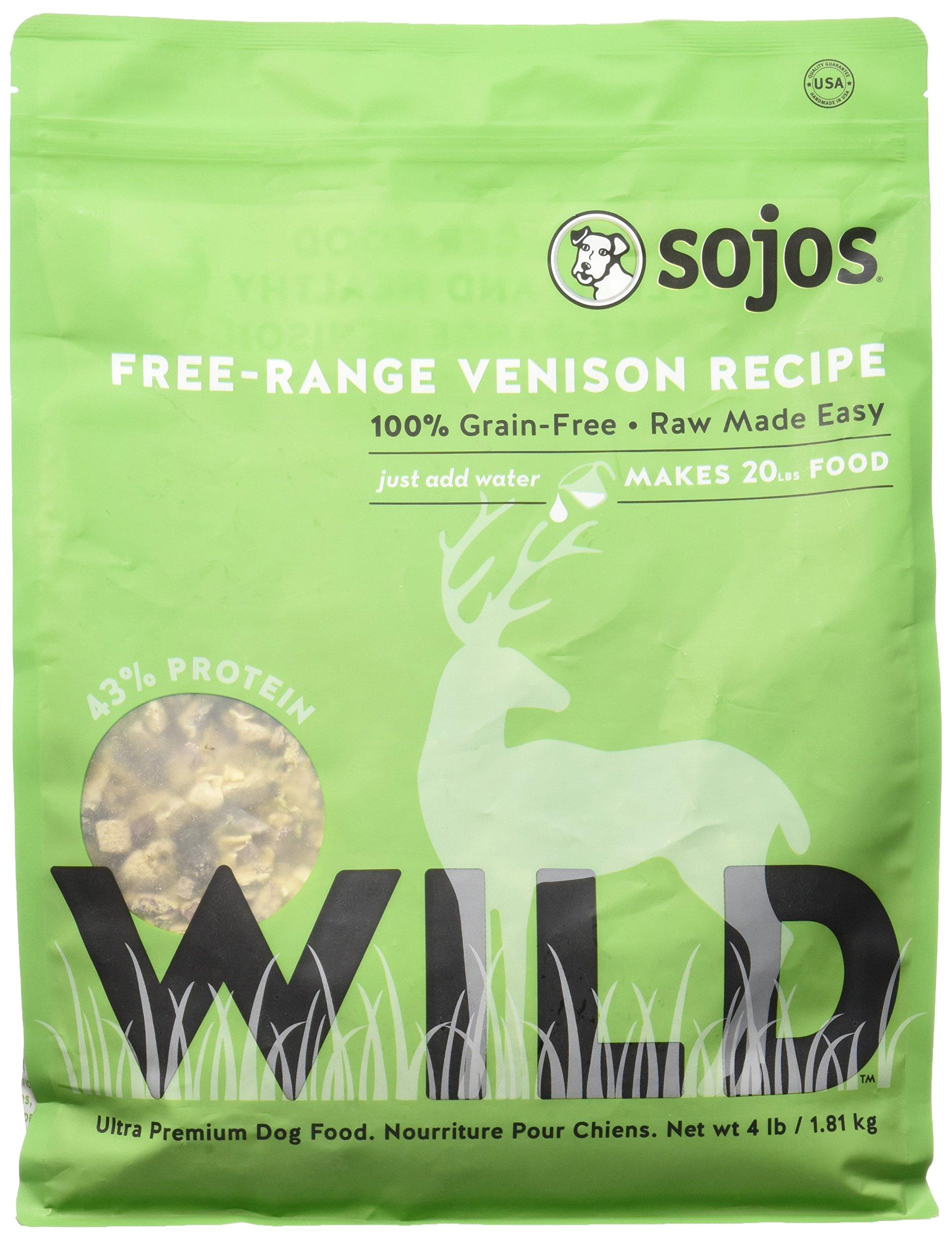 Sojos Wild Free-Range Dog Food Venison 4 lbs