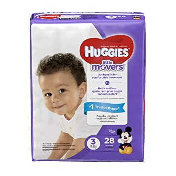 Huggies Little Movers Diapers Size 3 16 28 Lb 28 Ct Jumbo Pack Packaging May Vary Baby