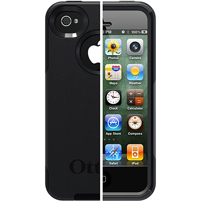 best sneakers 0a251 e4b22 OtterBox Commuter Series Case for iPhone 4/4S - Retail Packaging - Black  (Discontinued by Manufacturer)