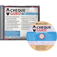 Cheque Guru Cheque Printing CD-Software For India . No. 1 Cheque Printing Software (English_1PC Life Long)