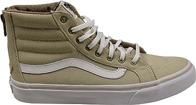 e94548af492 Vans Sk8-Hi Slim Zip Sneakers (Tweed Dots) Oyster Gray True White
