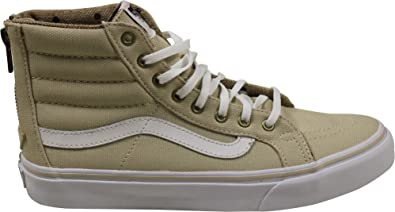 24e0a79123691b Vans Sk8-Hi Slim Zip Sneakers (Tweed Dots) Oyster Gray True White