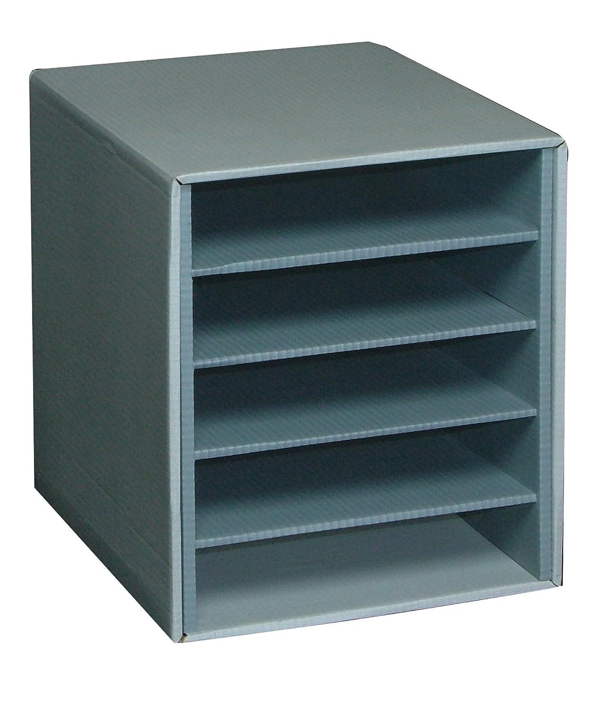 Fast 100725935 módulo módulo módulo carpeta cartón 5 compartimentos horizontal gris/verde 4ad433