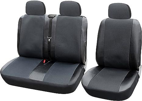 Grau Auto Sitzbezüge Schonbezüge Neu für Citroen Fiat Y Bus 2+1  Schwarz