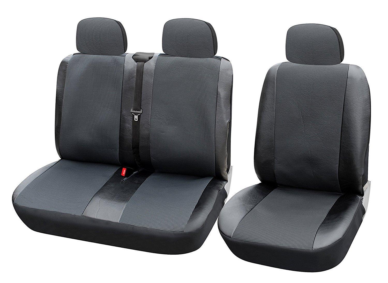WOLTU AS7323 Housse de siège pour camionnette,Housse de siège voiture universelle,housses pour siège,couvre siège,Noir Gris cheap