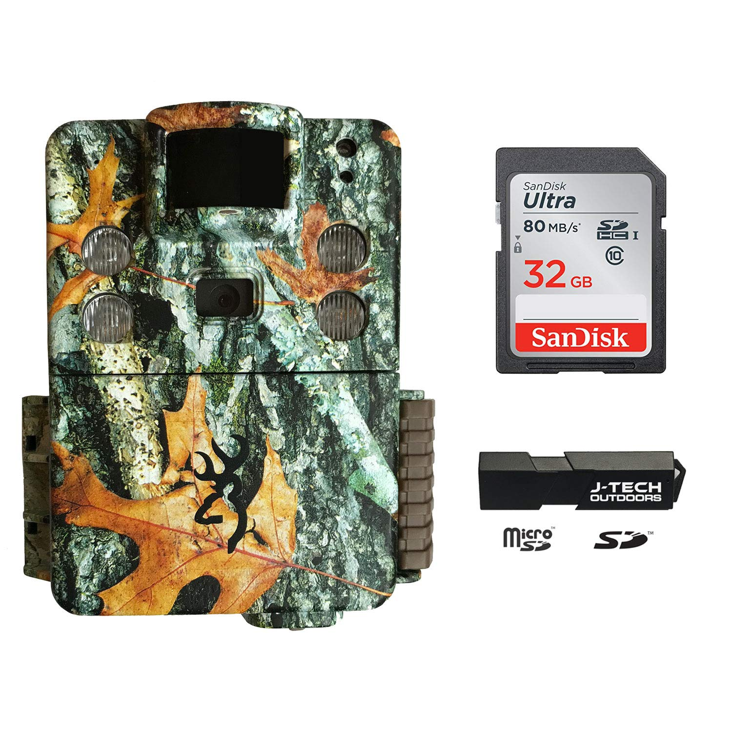 Browning Strike Force HD Pro X (2019) Trail Game Camera Bundle Includes 32GB Memory Card and J-TECH Card Reader (20MP) | BTC5HDPX by Browning Trail Cameras