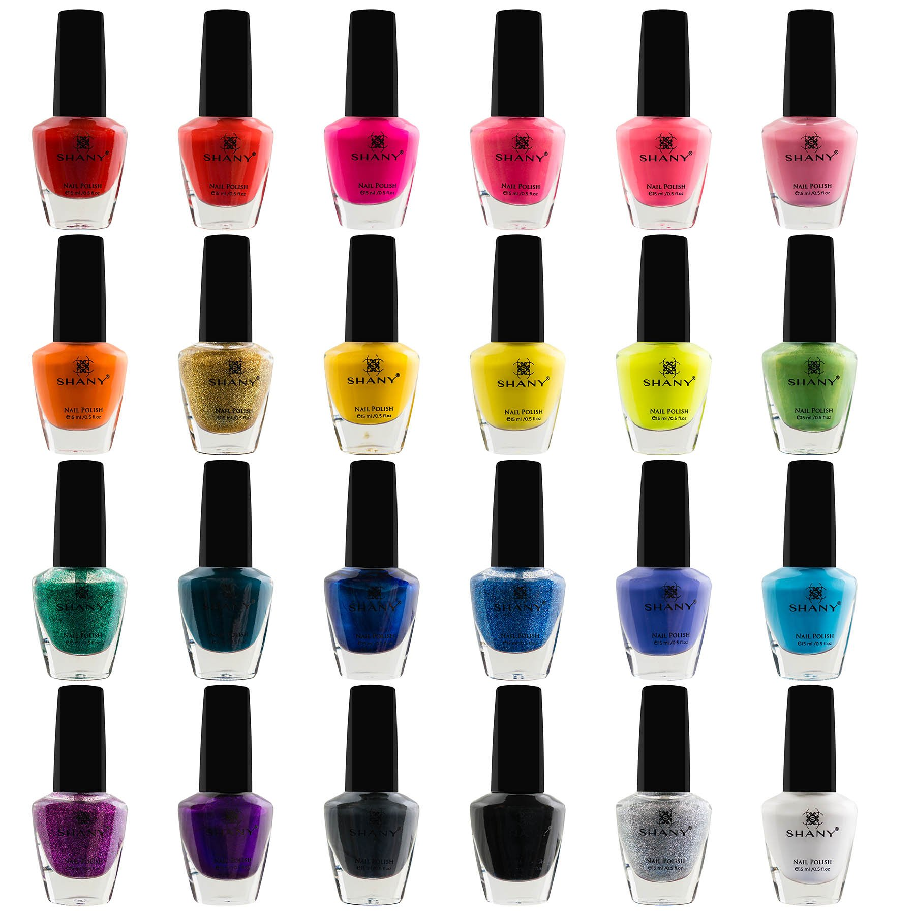SHANY Cosmetics The Cosmopolitan Nail Polish Set (24 Colors Premium Quality and Quick Dry),  0.5 fl ounce each by SHANY Cosmetics