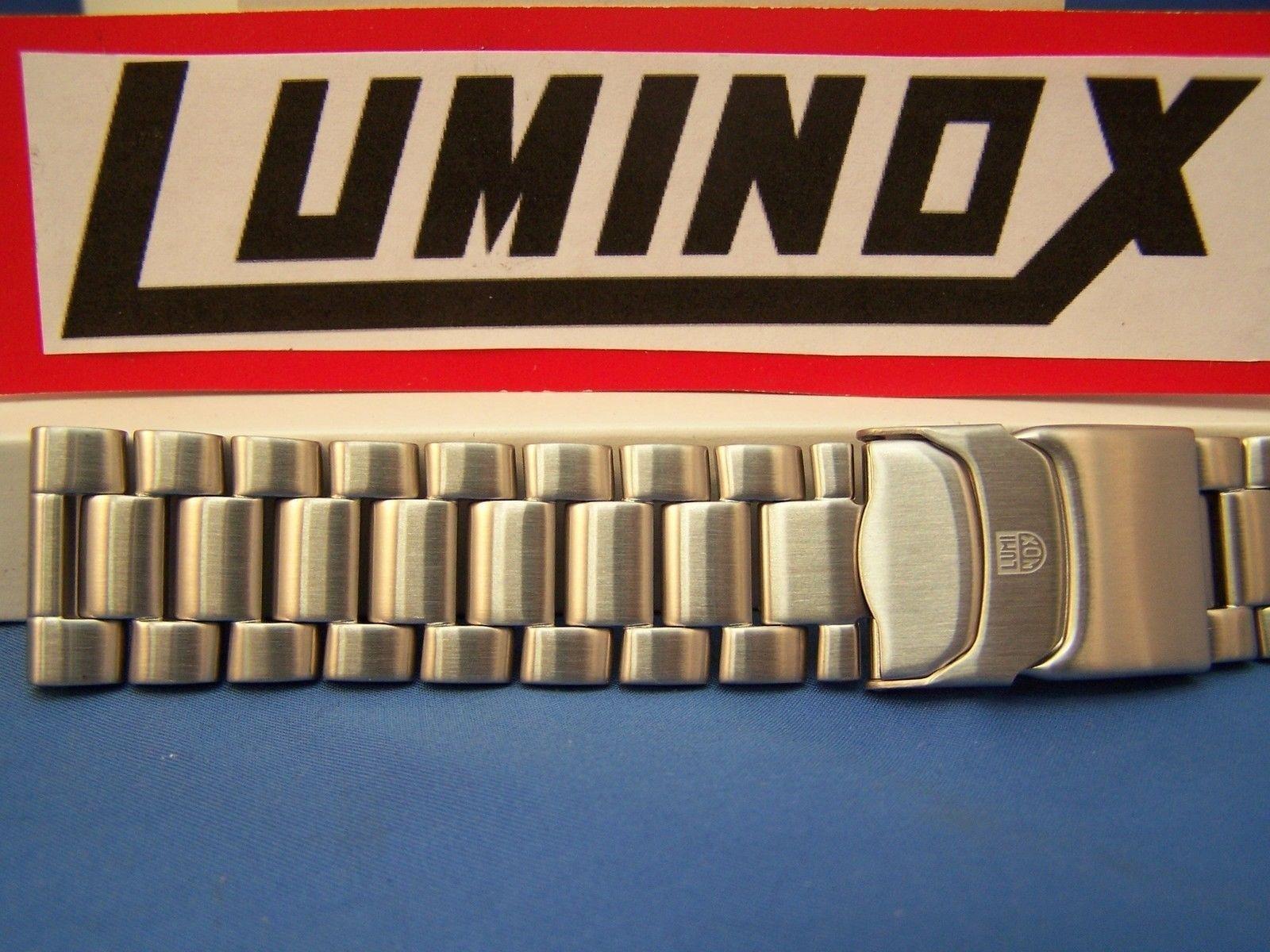 Luminox WatchBand 3150;3152;3182 ColorMark Steel SilverTn Bracelet 23mm by Luminox (Image #1)