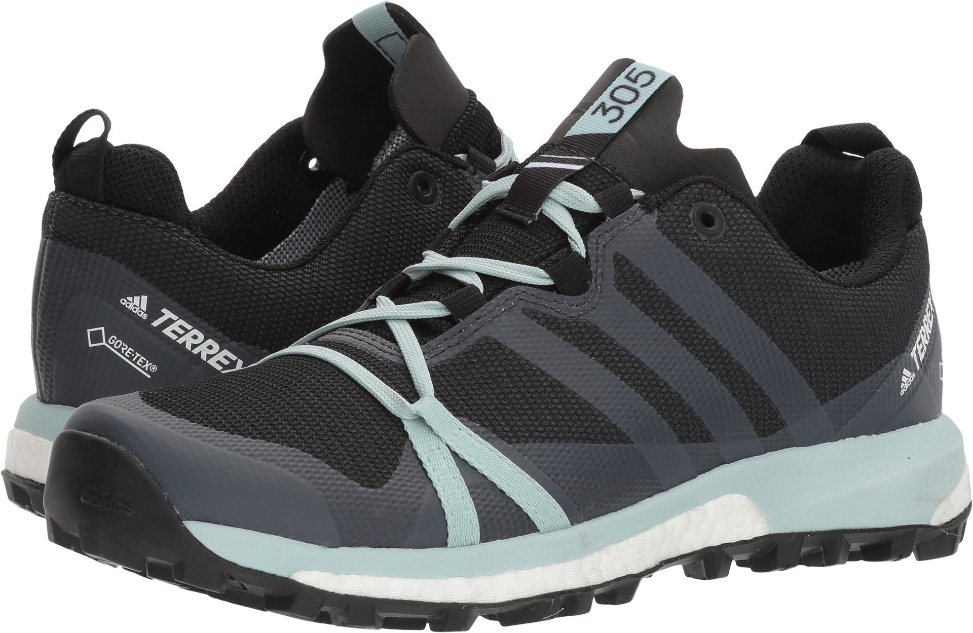 adidas outdoor Women's Terrex Agravic GTX¿ CarbonGrey ThreeAsh Green 10 B US