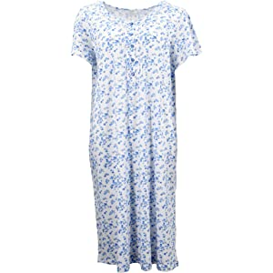 Zmart Australia Women's 100% Cotton Short Sleeve Nightie Gown Night Sleepwear PJ Pyjamas Pajamas